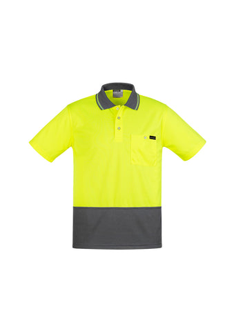 ZH415 Syzmik Mens Comfort Back Fluro Polo Shirts