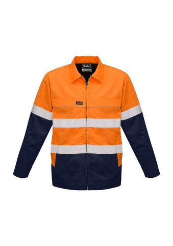 ZJ590 Hi Vis Cotton Drill Work Jacket