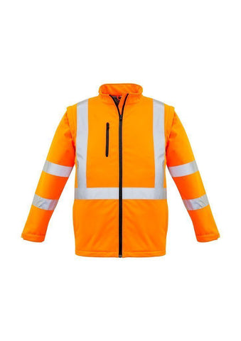 ZJ680 Hi Vis X Back 2 In 1 Soft Shell Rain Jacket