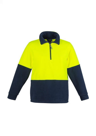 ZT460 Unisex Hi Vis Half Zip Fleece Jumper