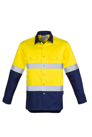 ZW123 Hi Vis Spliced Industrial Shirt - Hoop Taped