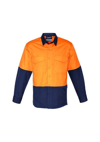 ZW128 Rugged Cooling Hi Vis Spliced Long Sleeve Shirt