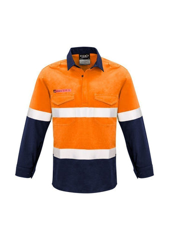 ZW133 FR Closed Front Hooped Taped Spliced Shirt Hi Vis