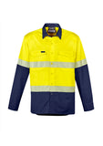 ZW229 Syzmik Mens Rugged Cooling Hi Vis Segmented Tape L/S Shirt