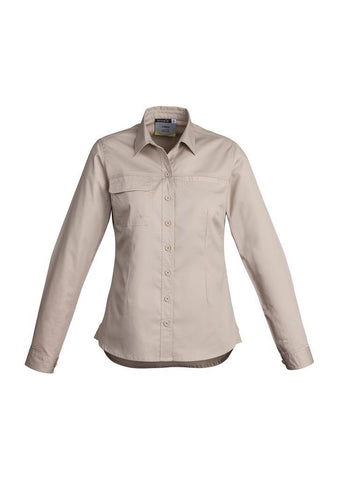 Womens Lightweight Long Sleeve Tradie Shirt