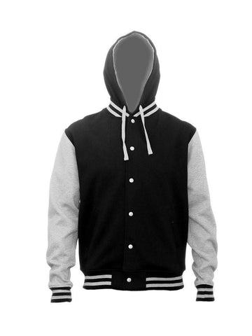HLM Adults Hooded Letterman Jackets