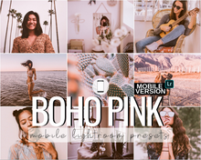 Load image into Gallery viewer, Boho Pink Mobile Presets - 5 Pack