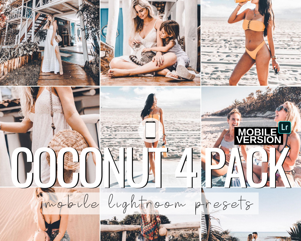 Coconut Mobile Presets - 4 Pack