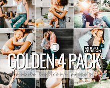 Load image into Gallery viewer, Golden Mobile Presets - 4 Pack