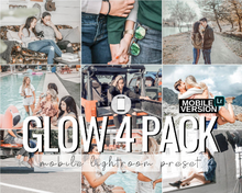 Load image into Gallery viewer, Glow Mobile Presets - 4 Pack