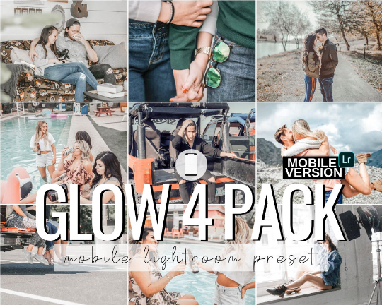Glow Mobile Presets - 4 Pack