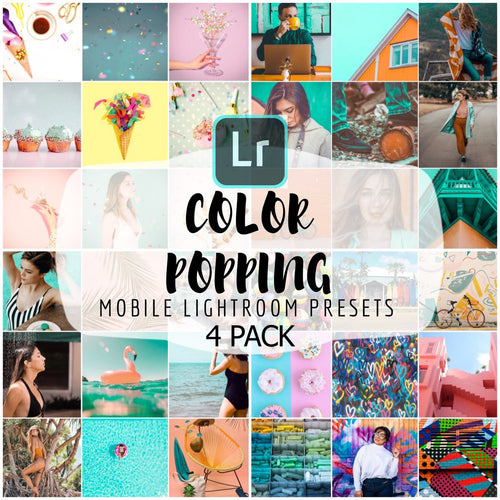 Color Popping Preset Bundle - 4 Pack