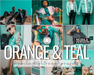 Orange & Teal Mobile Presets - 3 Pack