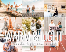 Load image into Gallery viewer, Warm & Light Mobile Presets - 3 Pack