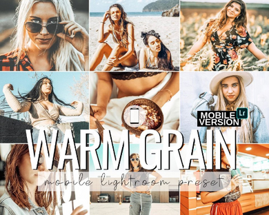 Warm Grain Mobile Presets - 3 Pack