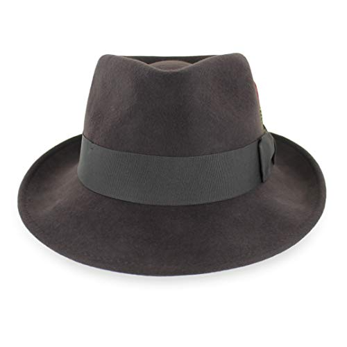 a899f324089 Belfry Gangster 100% Wool Stain-Resistant Crushable Dress Fedora in ...