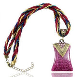 Bohemian Bead & String Necklace