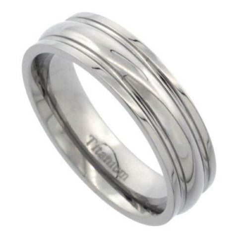 Comfort Fit Titanium Wedding Band