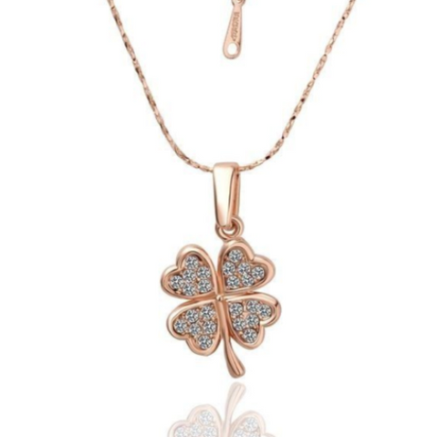 Crystal Four Leaf Clover Necklace