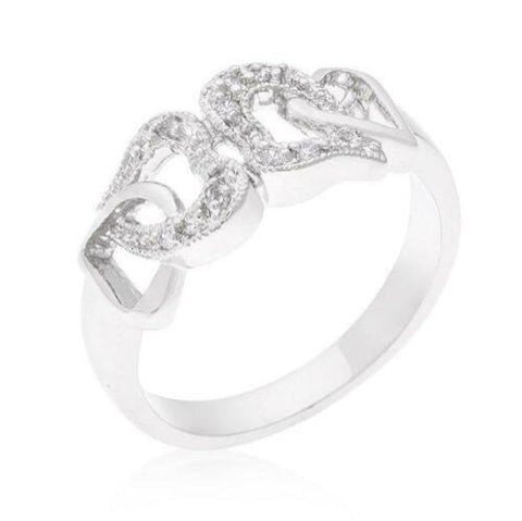 Double Linked Heart Ring