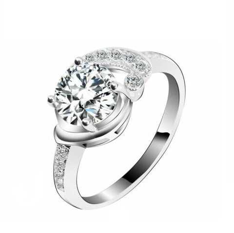 Half Knot Solitaire Engagement Ring