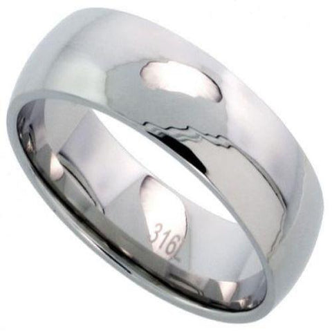Men's Classic Stainless Steel Wedding Band