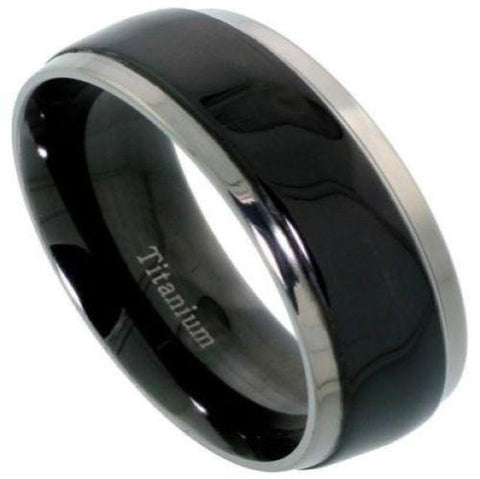 Men's Titanium Black Wedding Band
