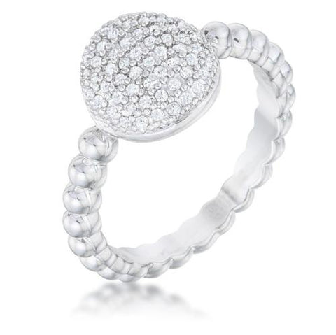 Rounded Sparkle Ring
