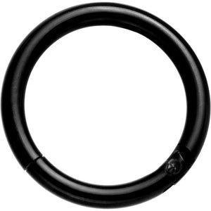 "16 Gauge 5/16"" Black Anodized Hinge Segment Ring Circular Barbell"