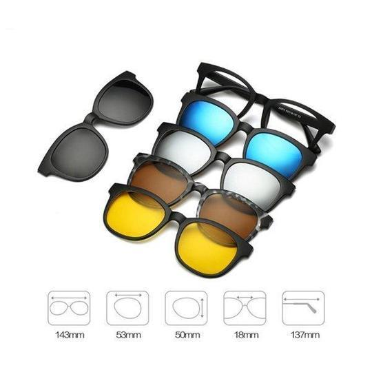 Magnetic Swappable Sunglasses™ [5 in 1 Lens]