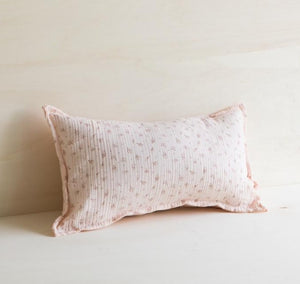 coussin lin rectangle rose pale Gabrielle PAris