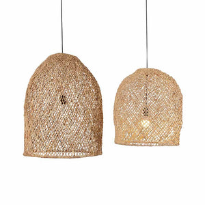 suspension rotin naturel, luminaire