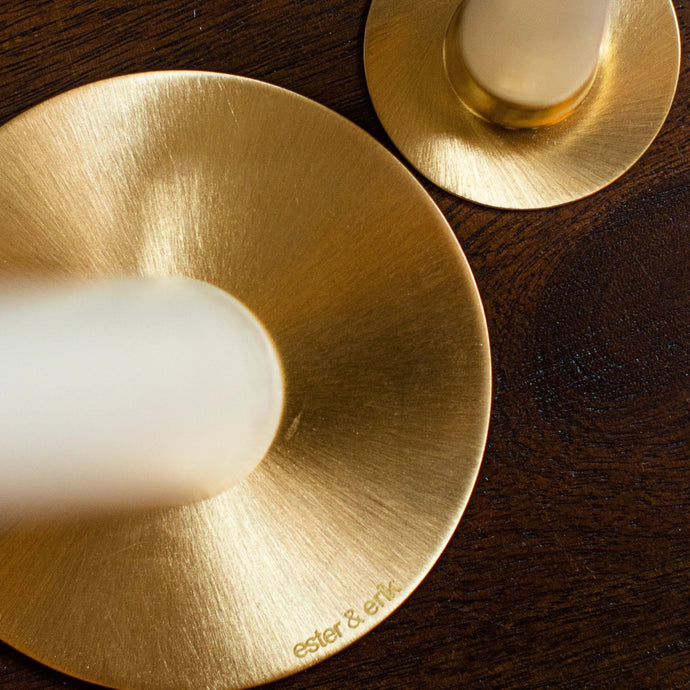 Candler Holder Brushed Brass