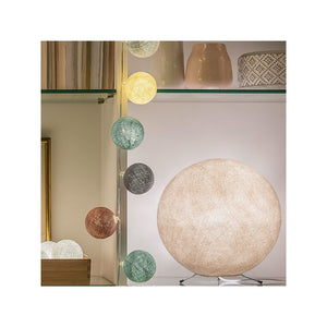 abat jour beige, suspension design moderne