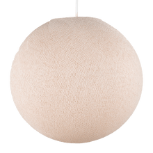 suspension abat jour beige