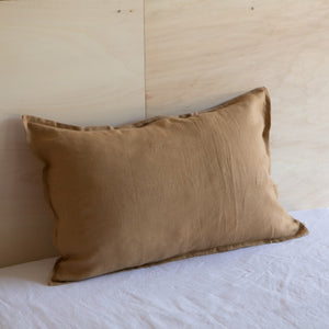 Linen Pillow Case & Eurosham Tabac