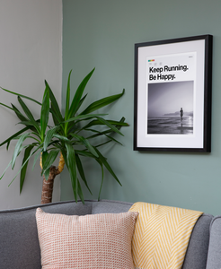 Keep Running Be Happy - Art Print for Runners