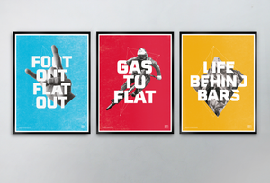 """Gas to Flat"" Special Edition Art Print - TrailMaps.co.uk"