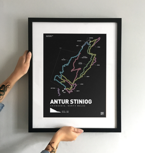 Antur Stiniog Art Print - TrailMaps.co.uk