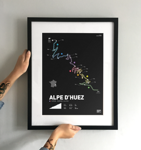 Alpe D'Huez | Art Print - TrailMaps.co.uk