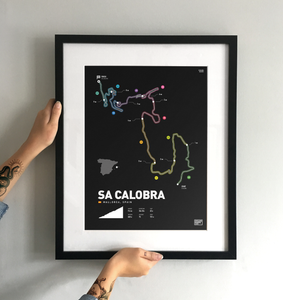 Sa Calobra | Art Print - TrailMaps.co.uk