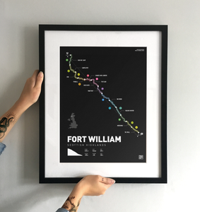 Fort William World Cup Art Print - TrailMaps.co.uk