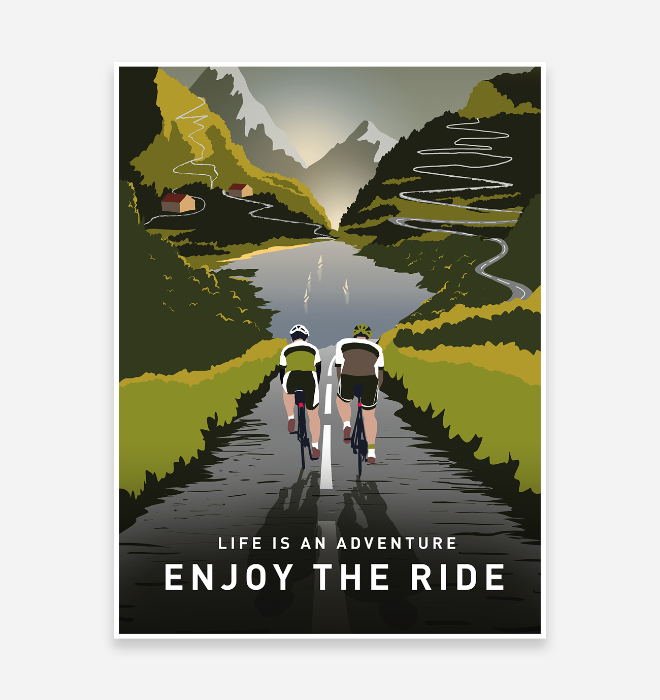 Enjoy The Ride Road Cycling Art Print