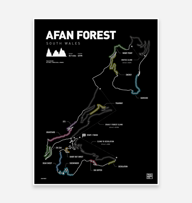 Afan Forest Art Print - TrailMaps.co.uk