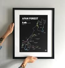 Load image into Gallery viewer, Afan Forest Art Print - TrailMaps.co.uk