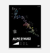 Load image into Gallery viewer, Alpe D'Huez | Art Print - TrailMaps.co.uk