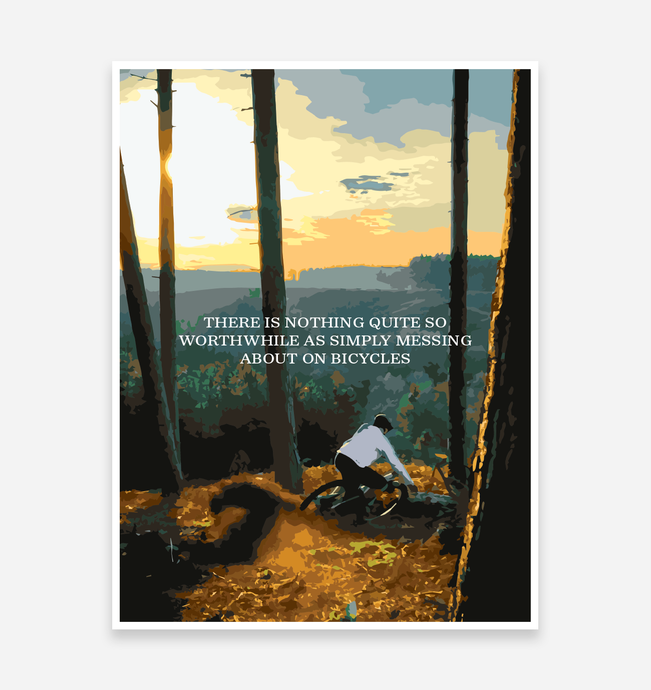 Nothing Quite So Simple Art Print - TrailMaps.co.uk