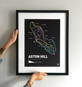 Aston Hill Bike Park Art Print