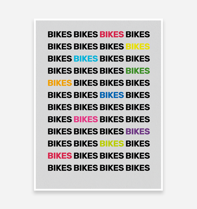 Bike Mad Art Print - TrailMaps.co.uk