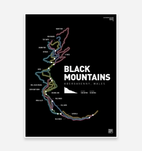 Load image into Gallery viewer, Black Mountains Art Print - TrailMaps.co.uk